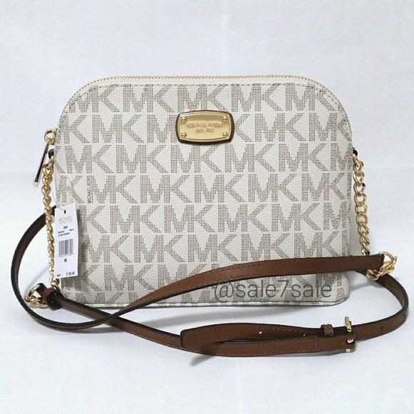 abf52e059c6ee8 Michael Kors Bags | Nwt Mk Cindy Dome Crossbody Bag Vanilla | Poshmark